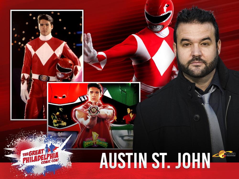 Austin St. John promo image via The Great Philadelphia Comic Con
