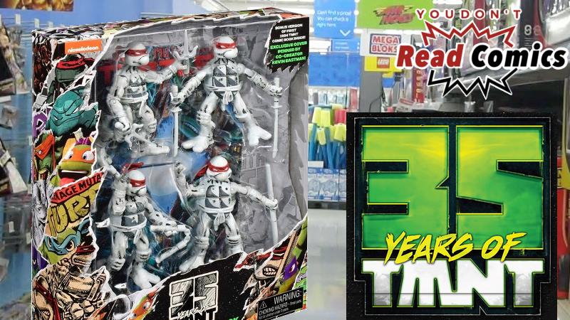 Teenage Mutant Ninja Turtles 35th Anniversary Figure 4 Pack Comic b/&w Set Teenage Mutant Ninja Turtles