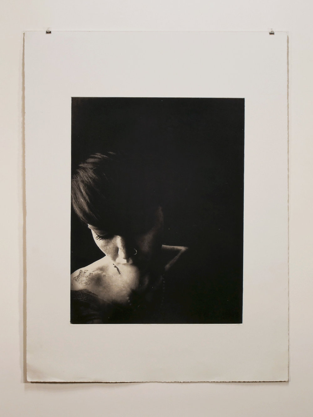 22 x 30 photogravure on Somerset Satin with gampi chine-collé