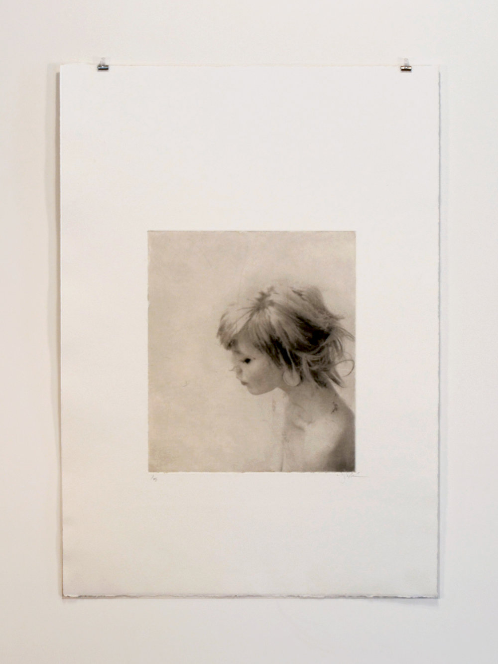 15 x 21 photogravure on Somerset Satin with gampi chine-collé