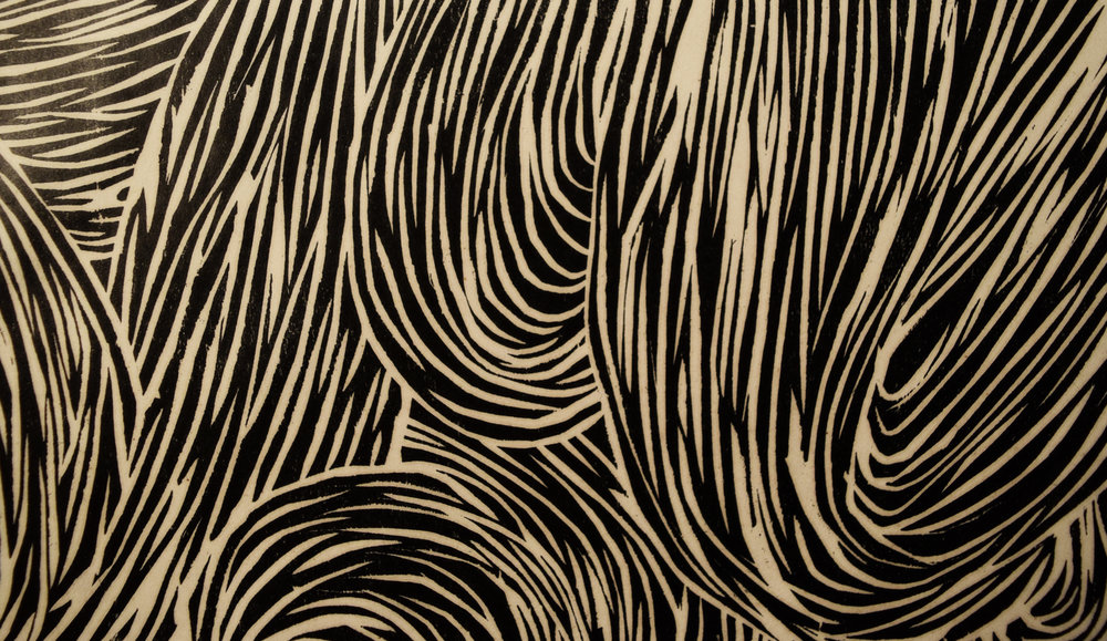 Woodblock detail