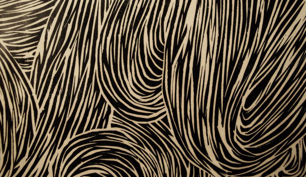 Woodblock detail