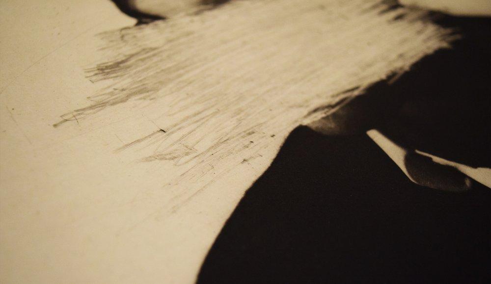 Photogravure + drypoint detail