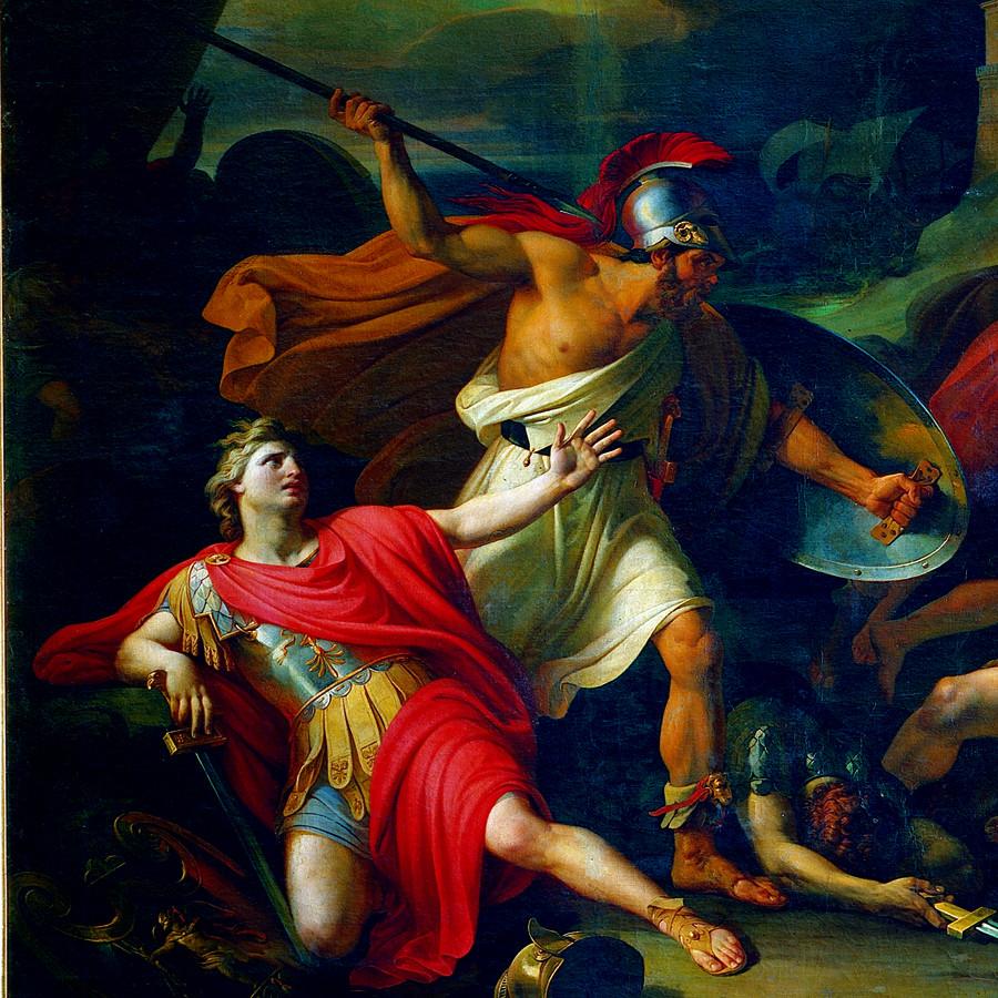 Pyotr Basin , Socrates Defends Alcibiades at Potidaea  (1828)