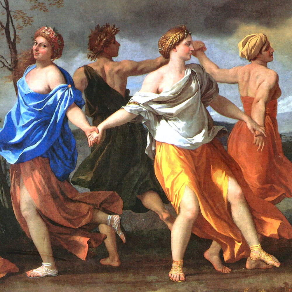 Nicolas Poussin ,  A Dance to the Music of Time  (1634-1636)