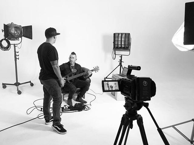 || Behind The Scenes 🎬|| Going over a few ideas with @derekfrankbass. ****** @rebelstudios  @sonstudios  @lettylopezmakeup • • • • • • • #music #film #video #production #create #behindthescenes #onlocation #studio #ursa #4K #slate #bassguitar #bassist #rebelstudios #sonstudios #lasvegas #💯 #blackmagicdesign #ursamini