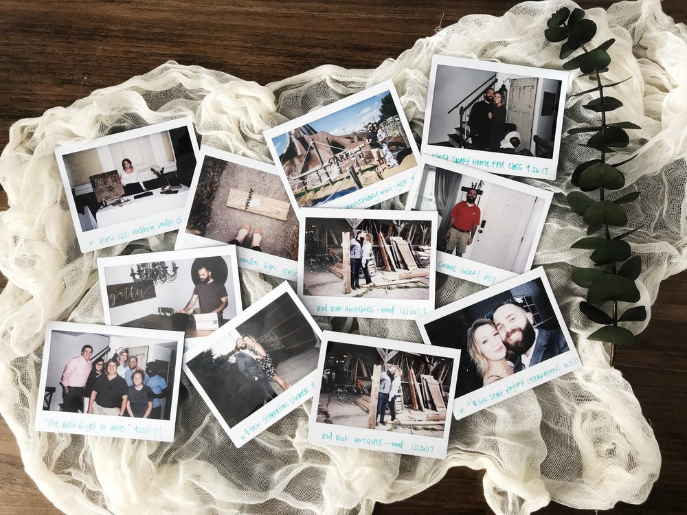 We started documenting our marriage in polaroids for our wedding guest book, + use them for the milestones in our marriage. Our Debt Free Journey is no exception + has made this journey just a little more fun!
