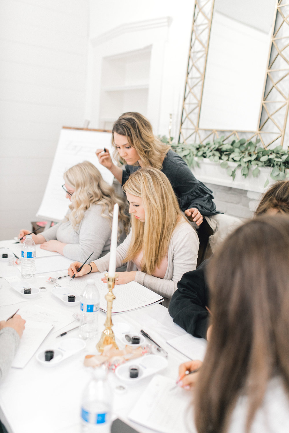 Spring Calligraphy Workshop hosted at Seed and Harvest Co in Lexington, KY! Photo by Kelsey Malicote!