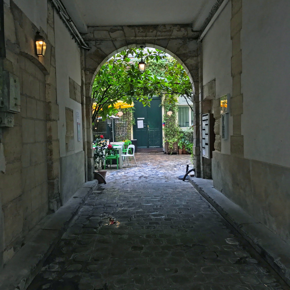 Courtyard at Derrière