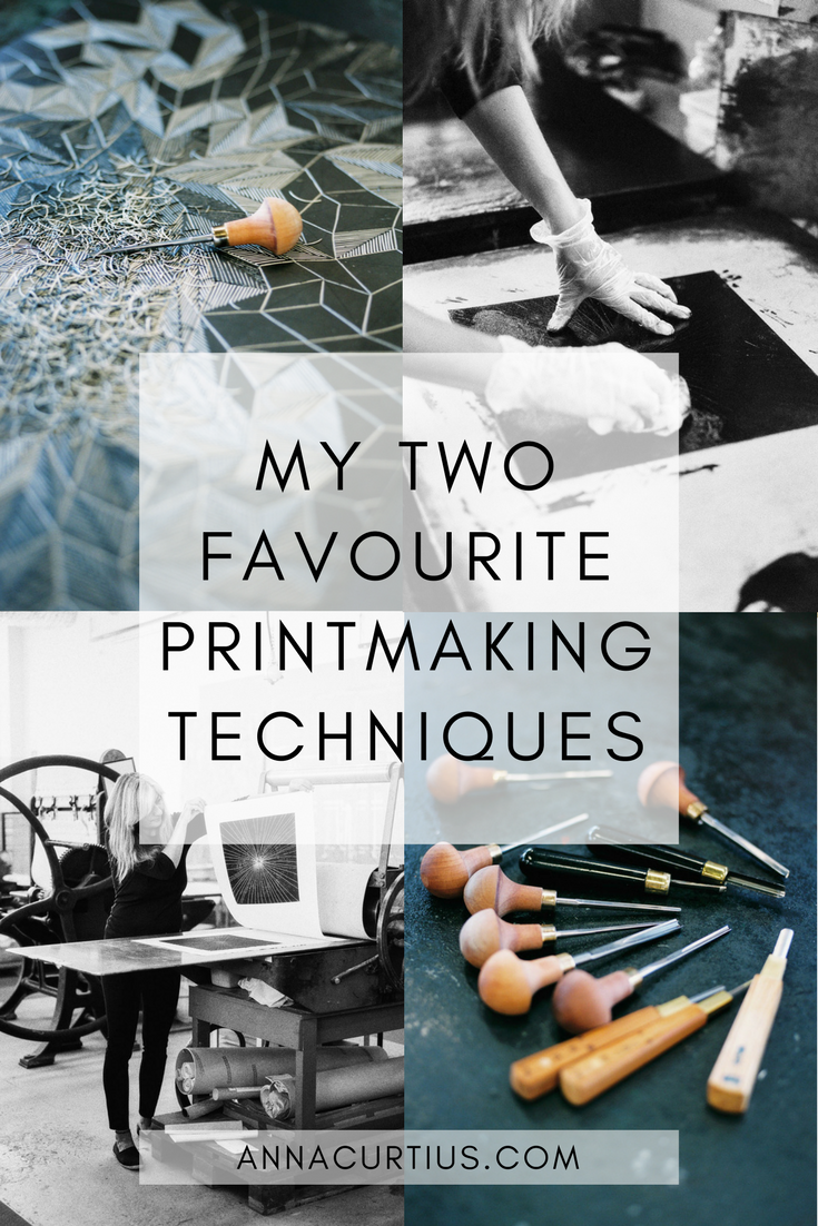 My two favourite printmaking techniques