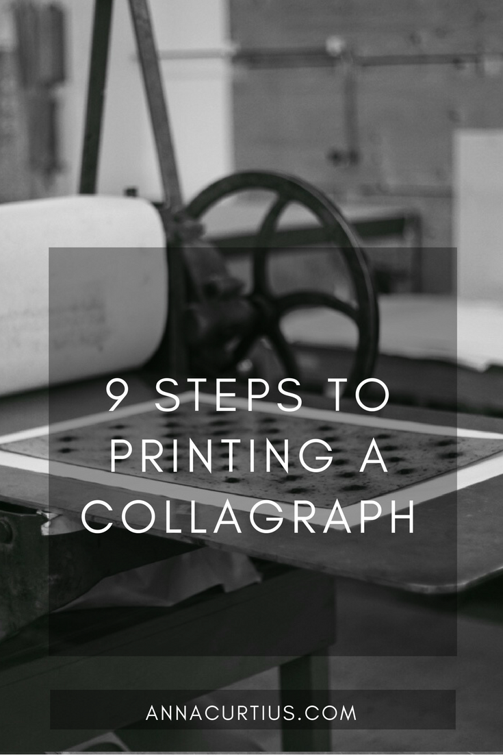 9 Steps to printing a collagraph