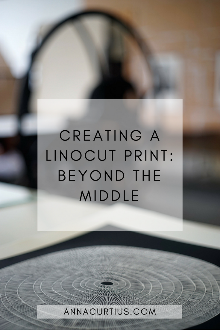 Creating a linocut print: Beyond the middle
