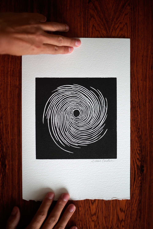 Vortex, linocut print 20x30 cm