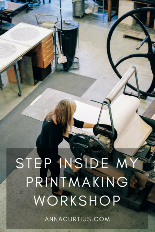 Step inside my printmaking workshop