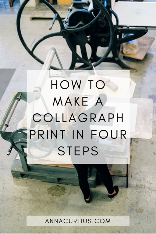 How to make a collagraph print in four steps