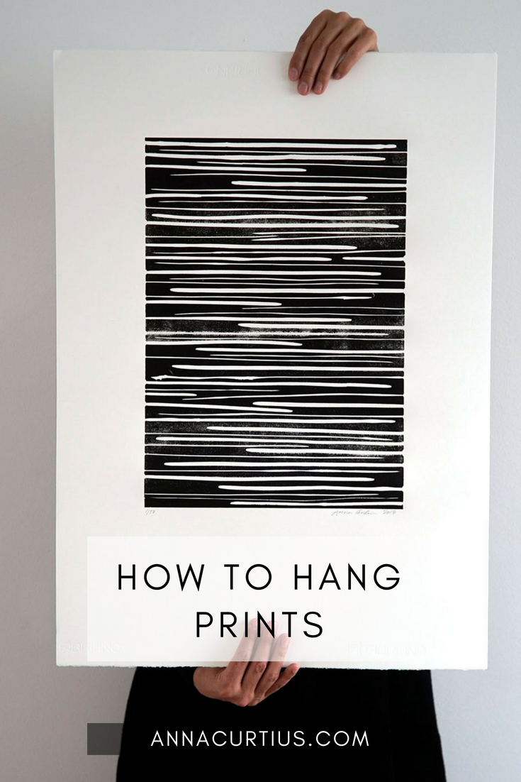 How to hang prints