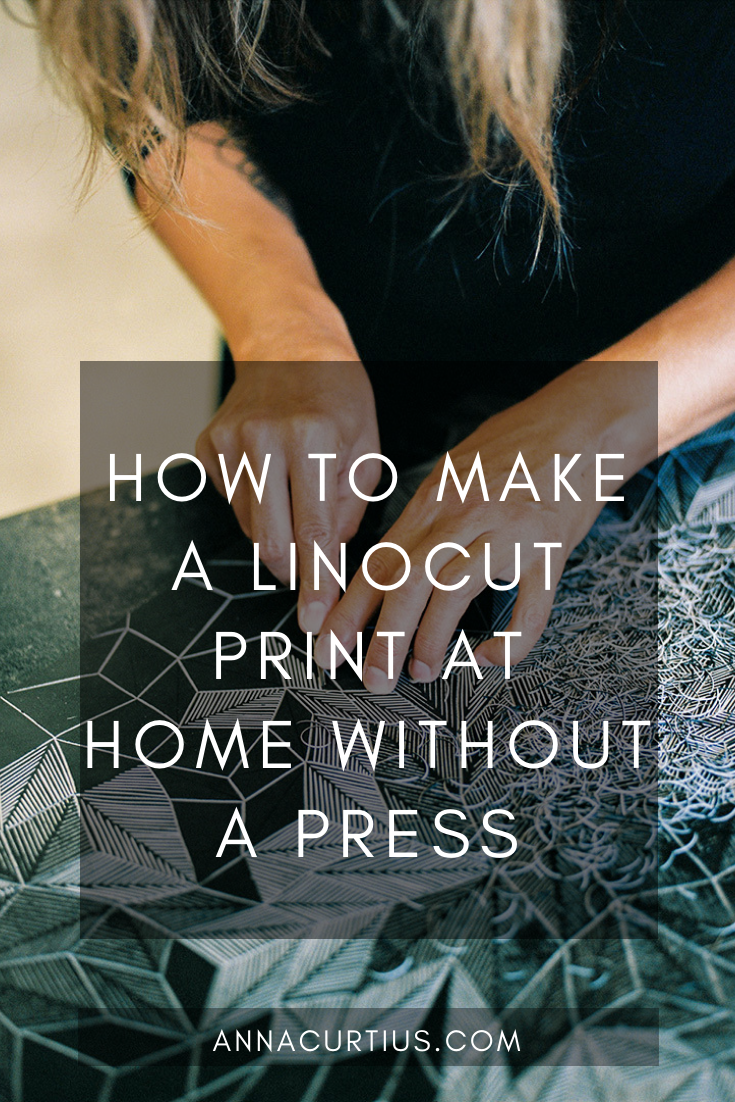 How to make a linocut at home without a press
