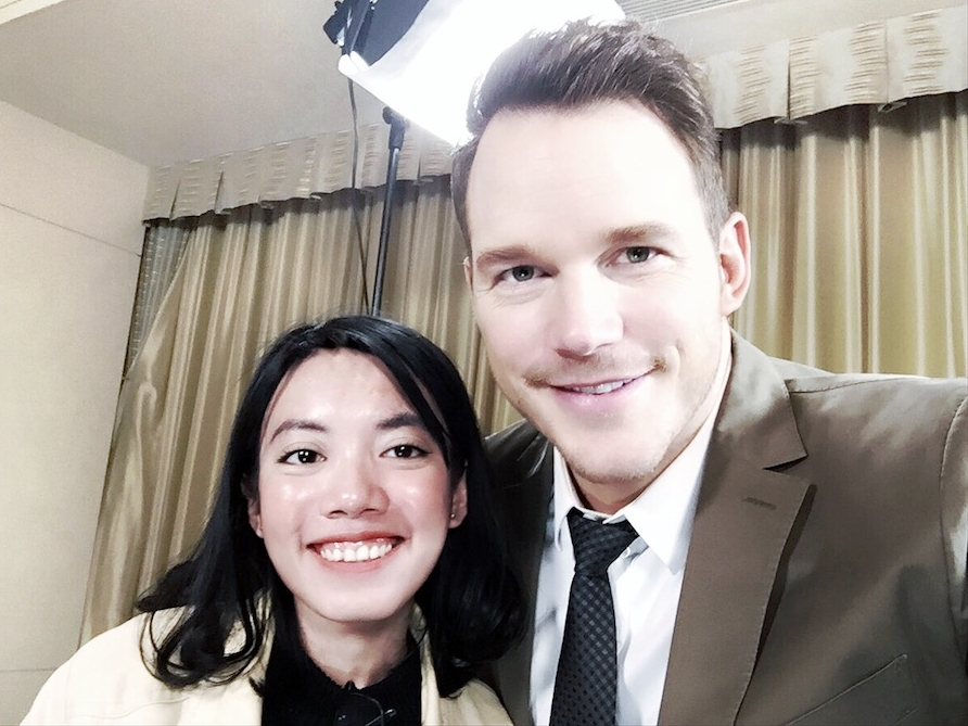 That exceptional selfie with Chris Pratt.