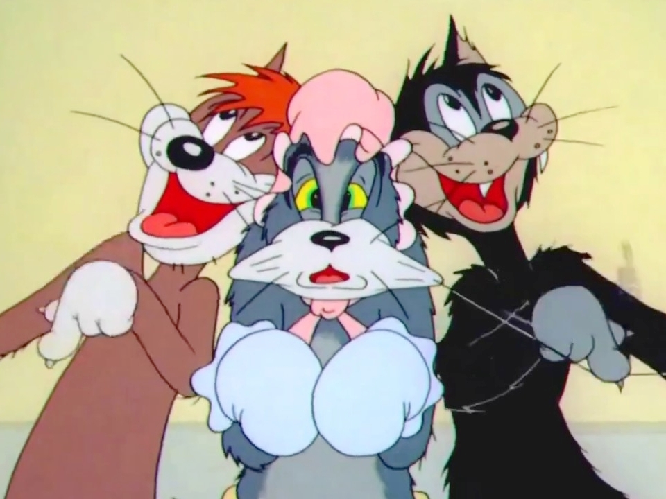 Tom and Jerry - Tiap kali melihat kartun ini, saya selalu teringat masa kecil: duduk di sofa bersama adik tiap sore untuk nonton Tom and Jerry. Kalau sudah habis, lanjut nonton kartun yang sama dari VCD. It's a show that has really happy memories for me--and funny ones! Sampai sekarang saya masih suka tertawa dan nggak habis pikir sama ulahnya duo kucing-tikus itu. Dari berantem sampai baikan, lalu berantem lagi, kemudian baikan lagi. Baby Puss (1943) episode—the one with the 'Mamãe Eu Quero' song—is my personal favorite.Image credit: YouTube