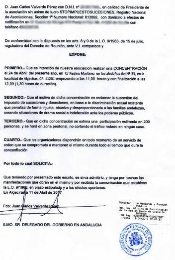 Documentación oficial de la concentración