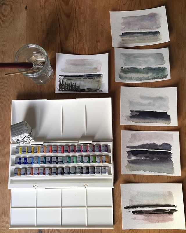 I have found chidakasha the blank space, the ❤️space in the head....the place where there is complete peace..... Feeling super excited to try out this new palette from the twin flame! ✨🙌😊week three watercolours from class!