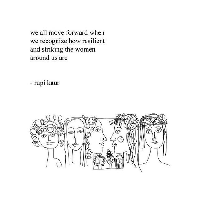 International Women's Day 🌸 The shift in consciousness is palpable. Sisters we are rising together ✨ 📷: Rupi Kaur 💕