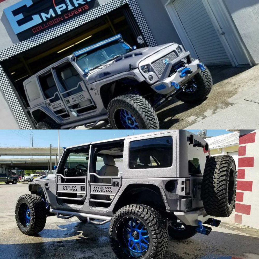 silver custom jeep wrangler empire collision experts. Black Bedroom Furniture Sets. Home Design Ideas