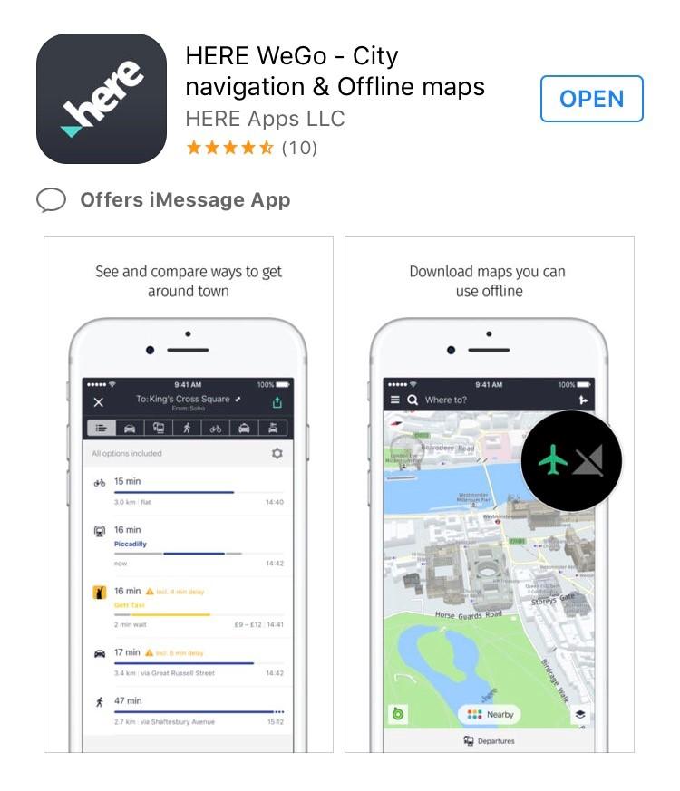 App: HERE WeGo