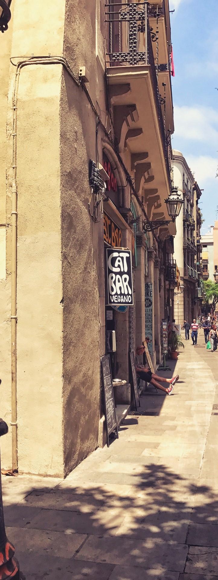 Die Cat Bar ganz unscheinbar in einer Seitenstrasse