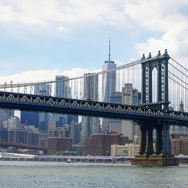 Manhattan Bridge  #Manhattan #nyc #bridges #ferries #cities #skylines #1wtc #worldtradecenter #iconic