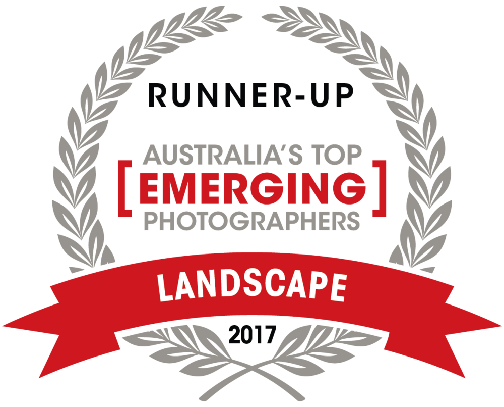 Capture Magazine's -   Australia's Top Emerging Photographers 2017.     2017 LANDSCAPE TOP 10.    -Runner up -  -9th Place-