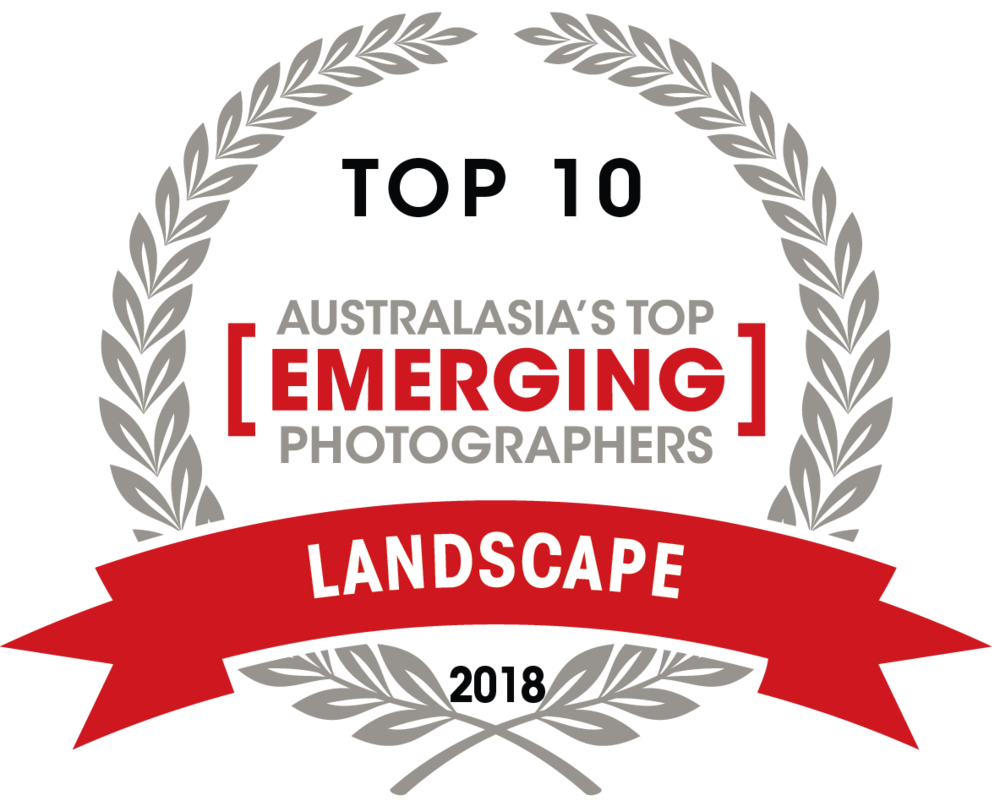 Capture Magazine's -   Australasia's Top Emerging Photographers 2018.     2018      Landscape Top 10.    - 4th-