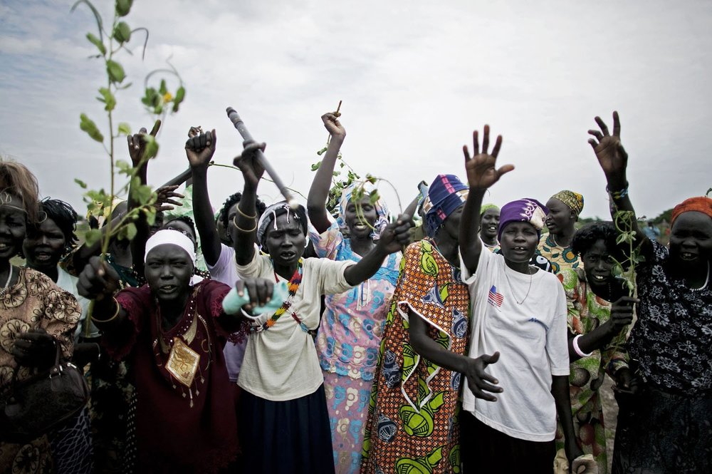 Nuer tribeswomen in the remote town of Akobo, near the border with Ethiopia. Akobo has been devastated by intertribal fighting since the end of the civil war in 2005. Nearly 1,000 people were killed in fighting there in 2009 alone.