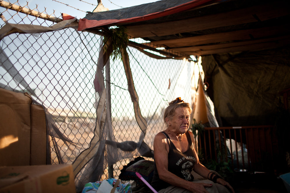 Vickie Stanphill has been homeless for over two months in Fresno, California.