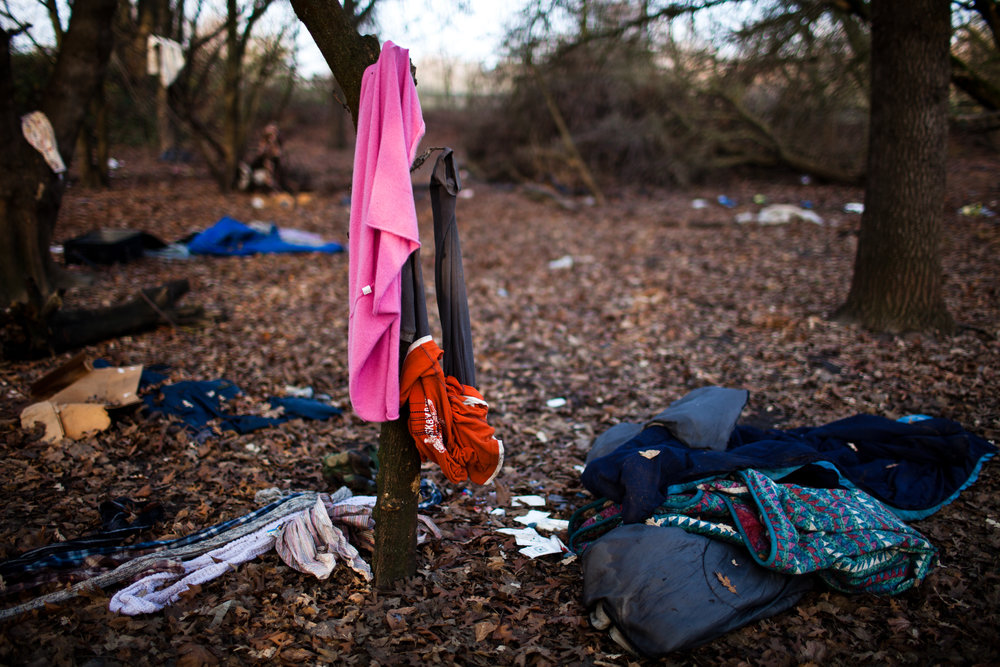 The remains of a former SafeGround homeless tent camp that was flooded out in Sacramento, California.
