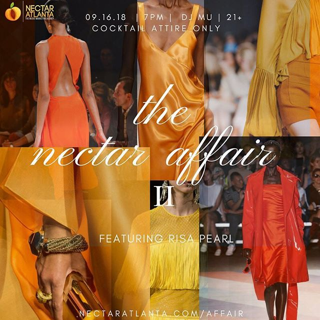 We're back! The 2nd Official Nectar Affair has arrived. A cocktail party complete with the Nectar experiences only we can offer. Cocktail attire only. Presale Tickets available at the link in our bio ! 🍑✨ __________________________________________________________________________ #dussecognac #socialstatus #nectaratlanta #nectaratl #nectaraffair #atlanta #atl #music