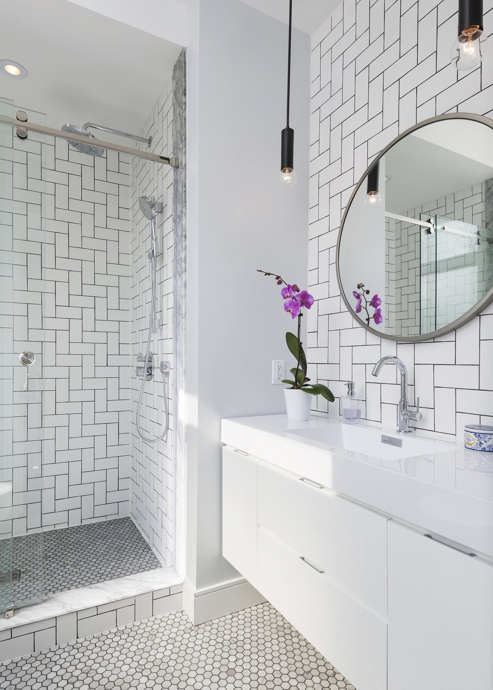 Master Ensuite with Custom Designed Tile Pattern