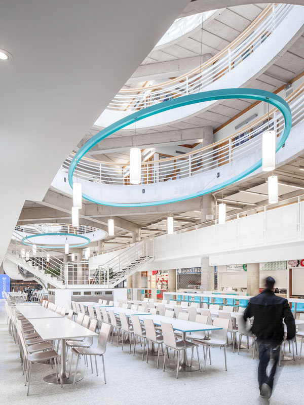 Food Court with colorful accents