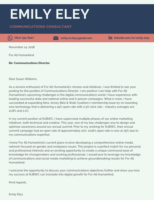 Website Cover Letter Template
