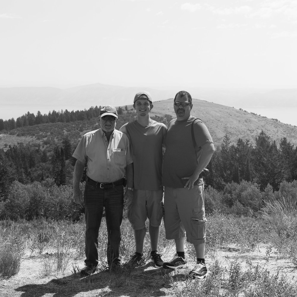 A 3 generational self-portrait of my grandfather, myself, and my father as we explored Wyoming.