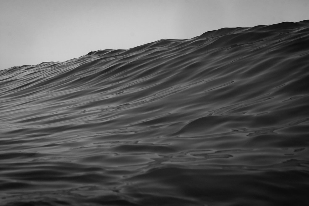 One of the first black and white photographs I had taken of the ocean using the Aquatech housing.