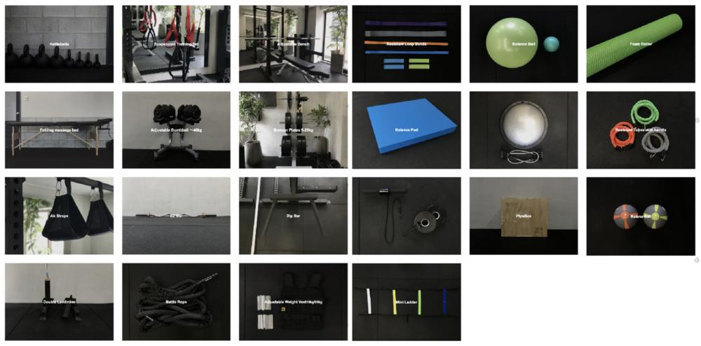 トレーニング機材のイメージ