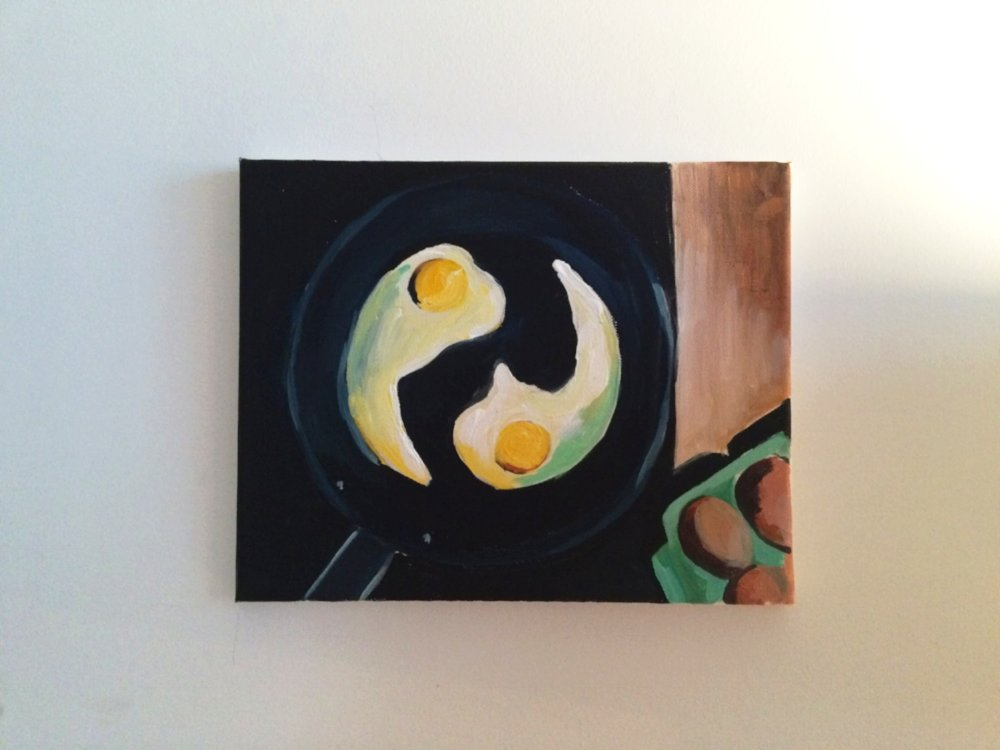 My Sunday morning zenful eggs were too peaceful not to capture. (Acrylic paint)
