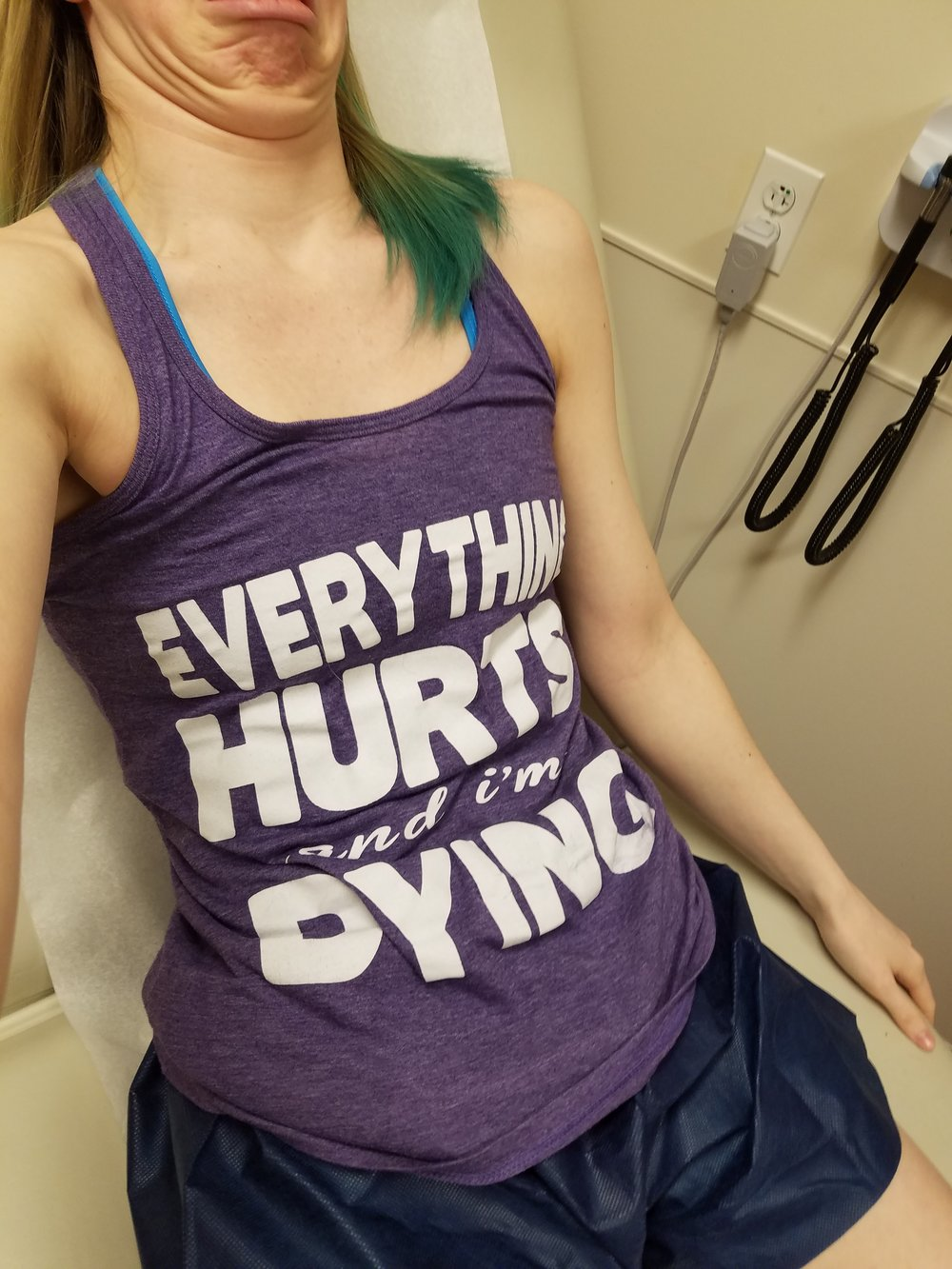 My favorite Tank for doctor appointments. note my beautiful face.