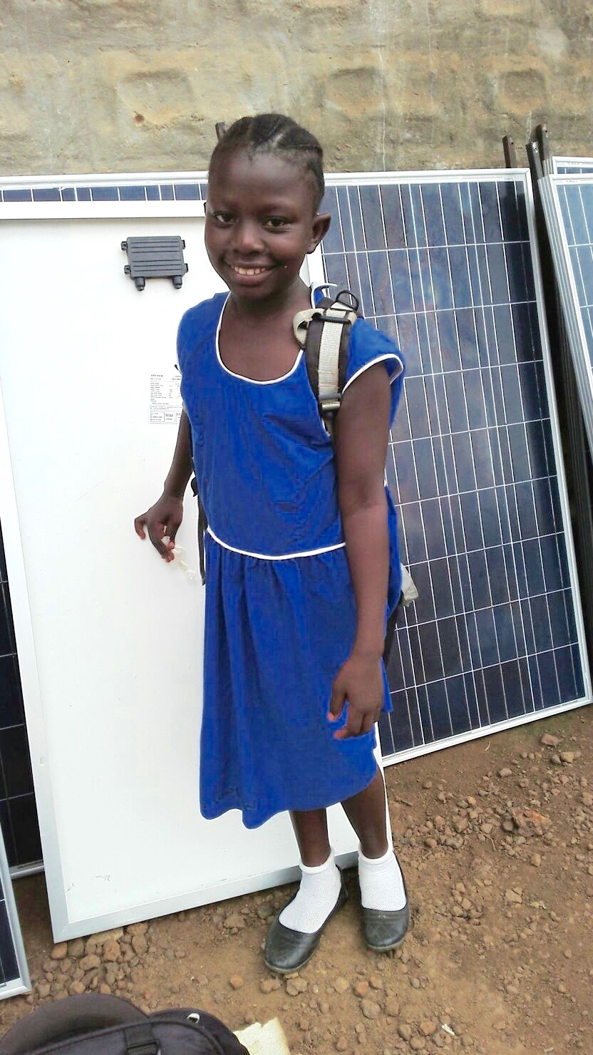 Millicent Fillie - TVL's female student sponsor excited for solar to be installed at her school.
