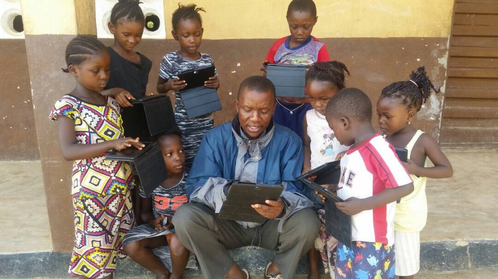 Early childhood education program lessons taught with the aid of technology.