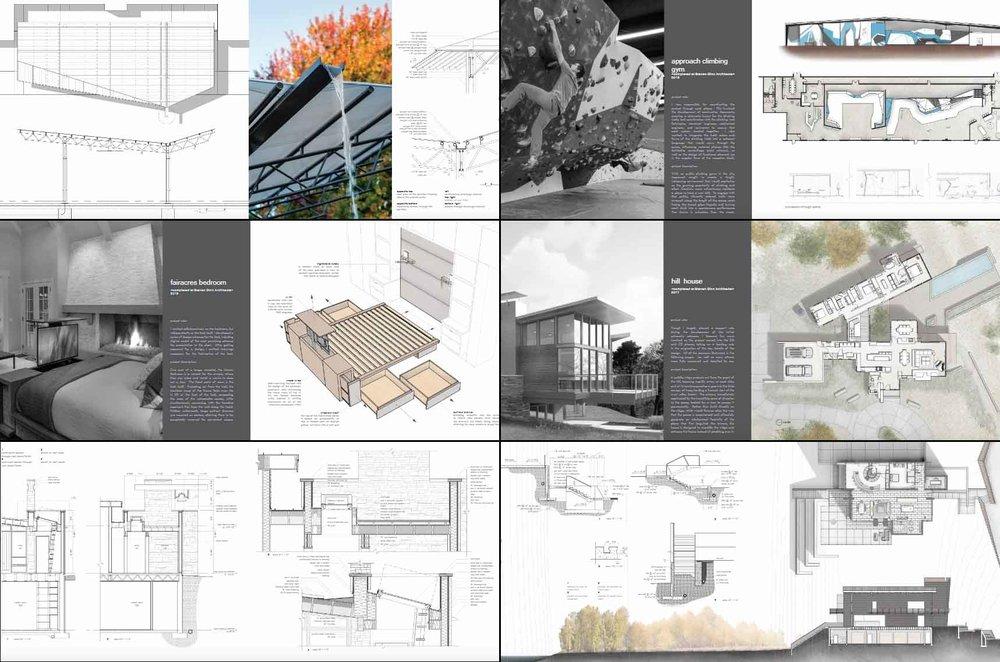 Portfolio Architekturlayout