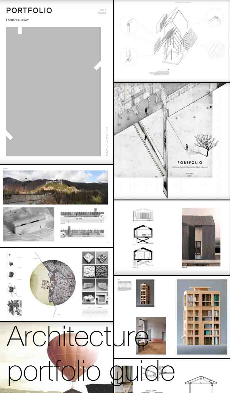 Architecture portfolio guide    Guide to creating and presenting an architecture portfolio, looking at examples, templates, layouts, sizes, and cover pages.