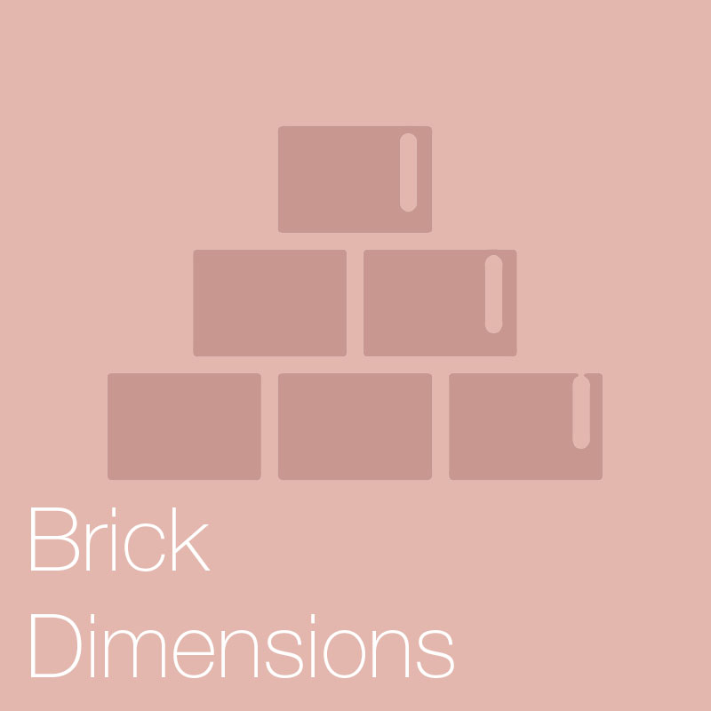 Brick dimensions    A detailed breakdown on brick dimensions, sizes, types and bonds