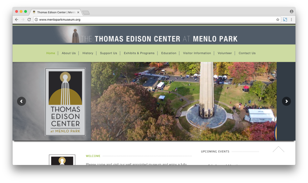 The Thomas Edison Center was already running on Wordpress, but a few issues had cropped up over the past several years. Without regular maintenance, some of the plugins had expired or stopped working correctly. I backed up their site, updated the theme, plugins, and core Wordpress, and then updated the slider/carousel with new or improved slides. I also wrote new custom CSS to improve the typography and layout on the mobile view of the site.